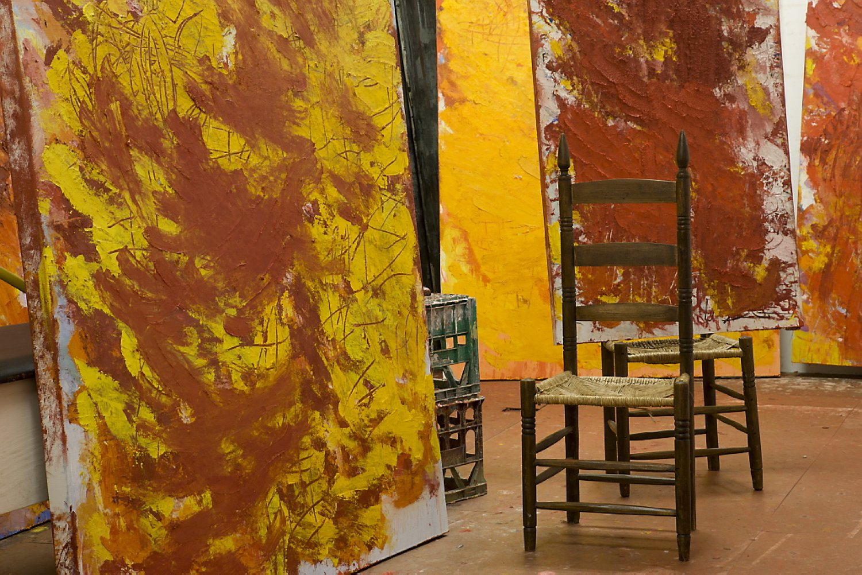 Aida Tomescu, Ravel' Exhibition Studio Shot 2