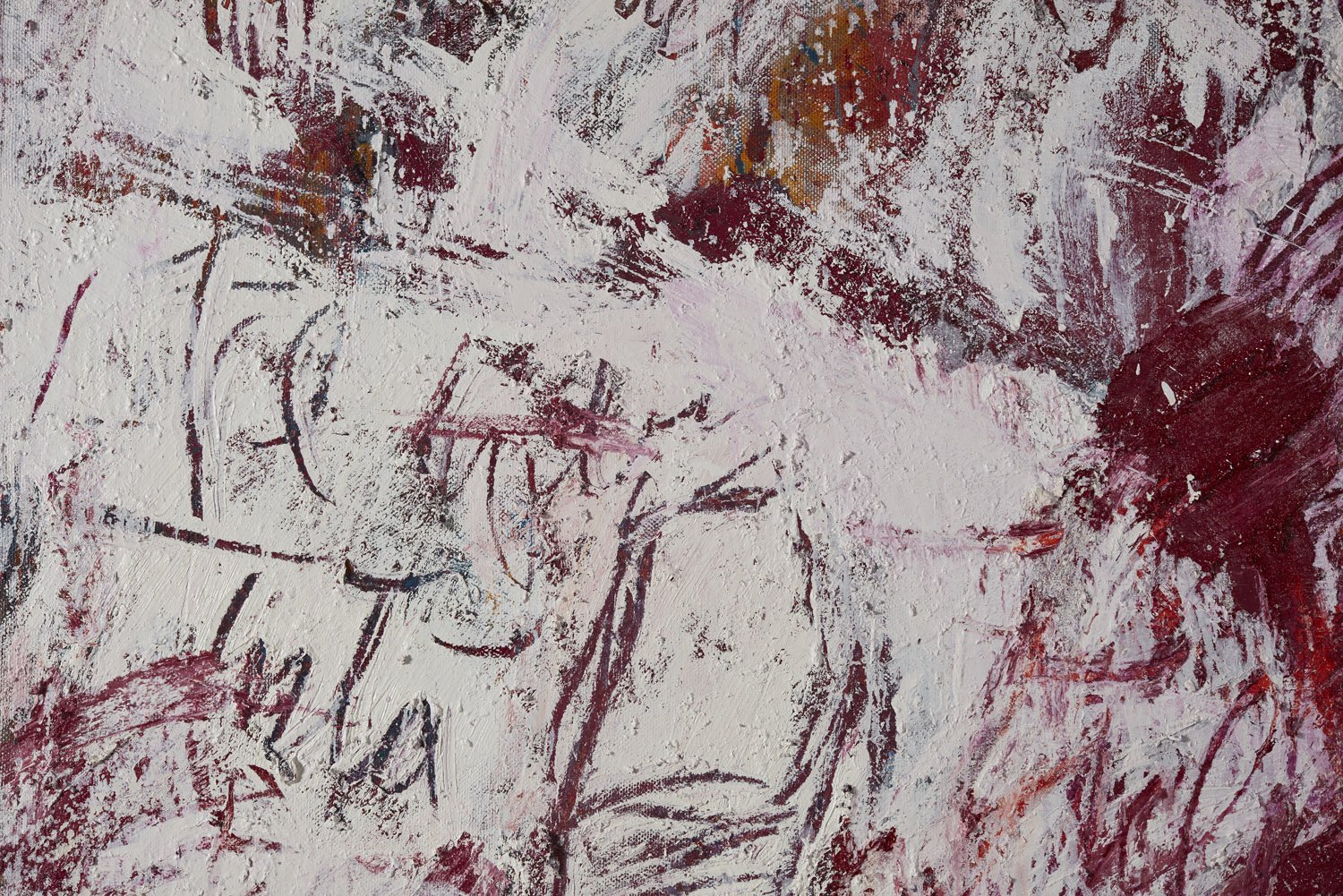 Aida Tomescu, Folded into the white of my words I (detail)
